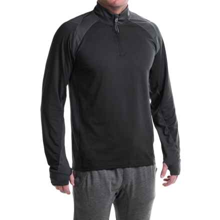 Avalanche Wear Gravity Pullover Shirt - Zip Neck, Long Sleeve (For Men) in Black Stripe - Closeouts