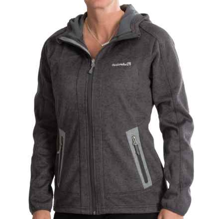 Avalanche Wear Heather Hooded Soft Shell Jacket - Windproof (For Women) in Black Asphalt Heather - Closeouts
