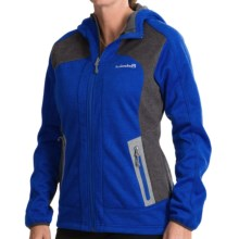 Avalanche Wear Heather Hooded Soft Shell Jacket - Windproof (For Women) in Dazzling Blue Heather - Closeouts