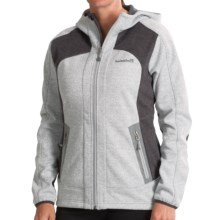 Avalanche Wear Heather Hooded Soft Shell Jacket - Windproof (For Women) in Silver Grey Heather - Closeouts