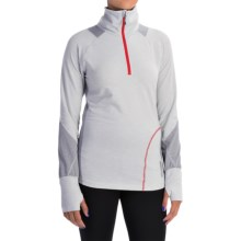 Avalanche Wear Hype Shirt - Zip Neck, Long Sleeve (For Women) in Arctic Ice/Quik Silver Melange/Fresno Red - Closeouts