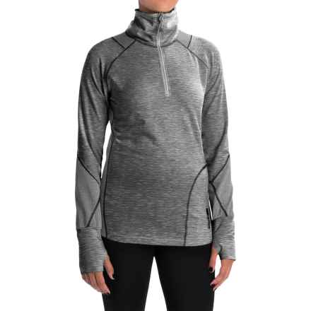 Avalanche Wear Hype Shirt - Zip Neck, Long Sleeve (For Women) in Black White Melange/Quicksilver - Closeouts