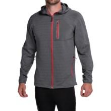 Avalanche Wear Ledge Hooded Fleece Jacket (For Men) in Asphalt Melange/Asphalt - Closeouts