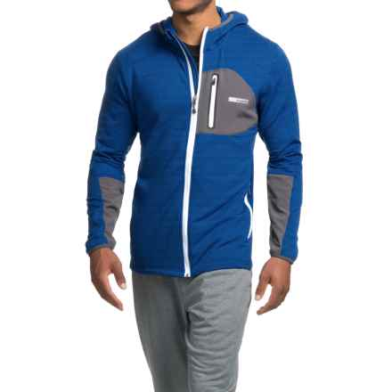 Avalanche Wear Ledge Hooded Fleece Jacket (For Men) in Batik Blue Melange/Asphalt - Closeouts