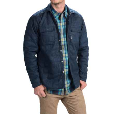 Avalanche Wear Monti Shirt Jacket - Insulated, Snap Front (For Men) in Indigo - Closeouts