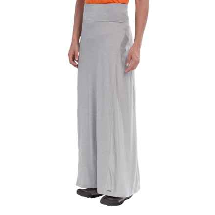 Avalanche Wear Space-Dye Maxi Skirt (For Women) in Light Grey Spacedye - Closeouts