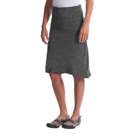 Avalanche Wear Space-Dyed Hi-Low Skirt (For Women) in Black Spacedye - Closeouts