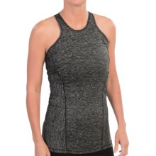 Avalanche Wear Space-Dyed Tank Top - Mesh Racerback (For Women) in Black Spacedye/Key Lime - Closeouts