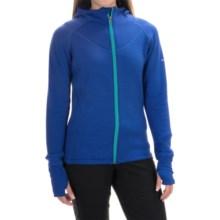 Avalanche Wear Swift Fleece Hoodie - Full Zip (For Women) in Batik Blue/Bright Teal - Closeouts