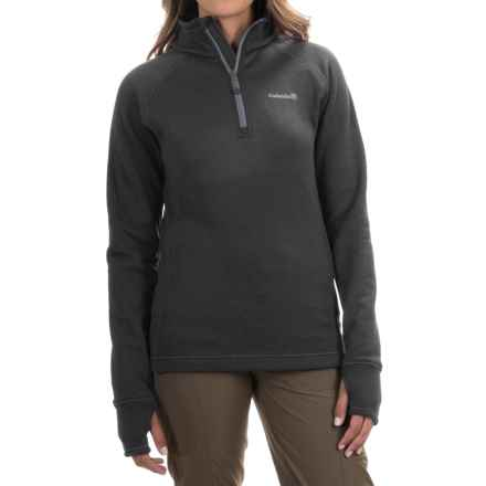 Avalanche Wear Swift Pullover Jacket - Fleece Lined, Zip Neck (For Women) in Asphalt/Quick Silver - Closeouts