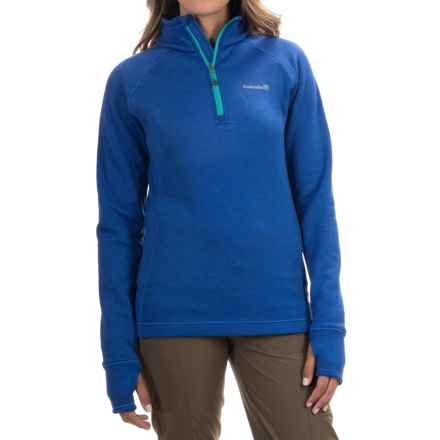 Avalanche Wear Swift Pullover Jacket - Fleece Lined, Zip Neck (For Women) in Batik Blue/Bright Teal - Closeouts