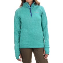 Avalanche Wear Swift Pullover Jacket - Fleece Lined, Zip Neck (For Women) in Bright Teal/Batik Blue - Closeouts