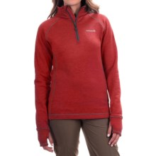 Avalanche Wear Swift Pullover Jacket - Fleece Lined, Zip Neck (For Women) in Fresno Red/Asphalt - Closeouts