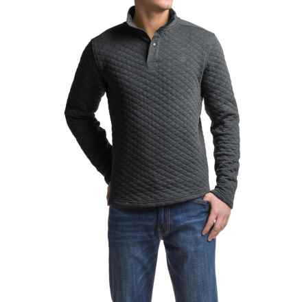 Avalanche Wear Taku Quilted Pullover Shirt - Long Sleeve (For Men) in Dark Grey - Closeouts