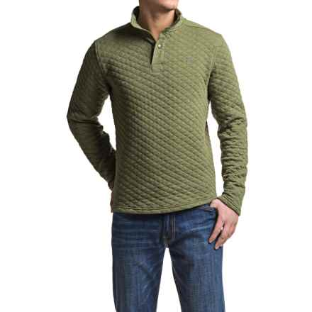 Avalanche Wear Taku Quilted Shirt - Long Sleeve (For Men) in Dark Olive Heather - Closeouts