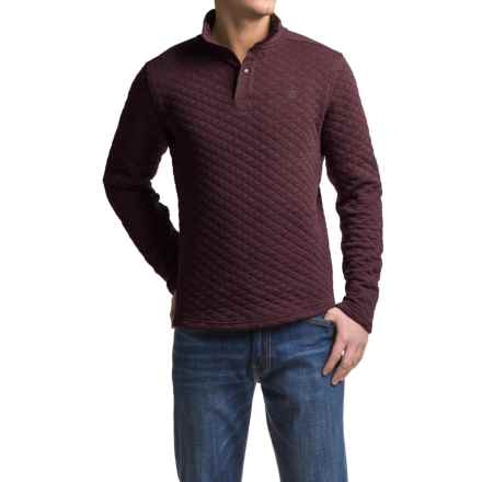Avalanche Wear Taku Quilted Shirt - Long Sleeve (For Men) in Nocturn Wine Heather - Closeouts