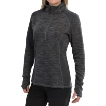 Avalanche Wear Twist Shirt - Zip Neck (For Women) in Charcoal Melange/Charcoal - Closeouts
