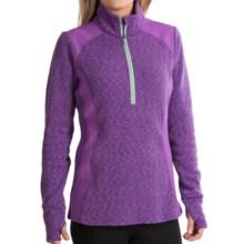 Avalanche Wear Twist Shirt - Zip Neck (For Women) in Dewberry Melange/Dewberry/Meadow - Closeouts
