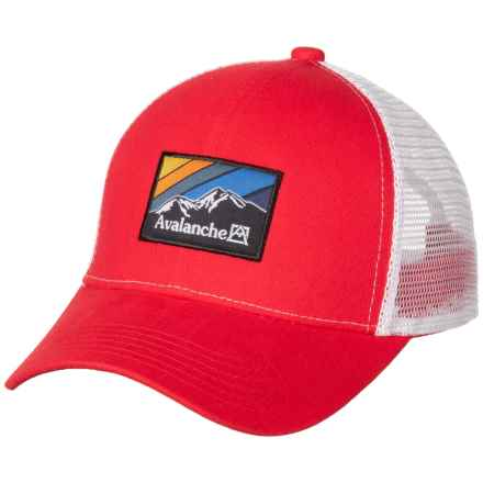 db9db6ba92464 Avalanche Woven Label Patch Trucker Hat (For Men) in Red - Closeouts