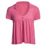Avalin Collar Cardigan Sweater - Short Sleeve (For Women)