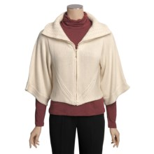 Avalin Cropped Cardigan Sweater - Zip, 3/4 Sleeve (For Women) in Natural - Closeouts