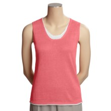 Avalin Linen Sweater - Sleeveless (For Women) in Coral - Closeouts
