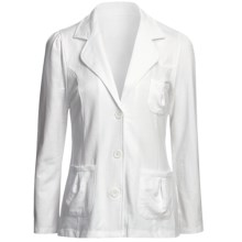 Avalin Notch Jacket - French Terry (For Women) in White - Closeouts