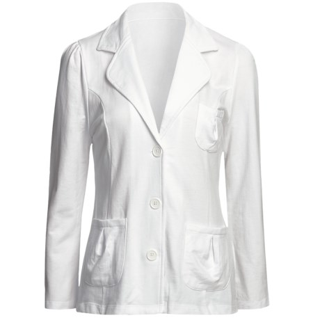 Avalin Notch Jacket - French Terry (For Women) in White