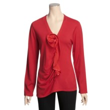 Avalin Satin Rosette Sweater (For Women) in Ruby - Closeouts