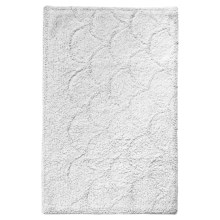 "Avanti Linens Flutter Dots Collection Bathroom Rug - 20x30"" in White - Closeouts"