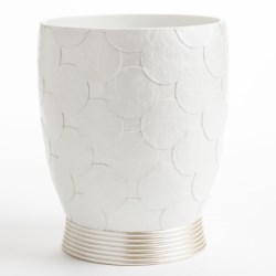 Avanti Linens Flutter Dots Collection Waste Basket in White