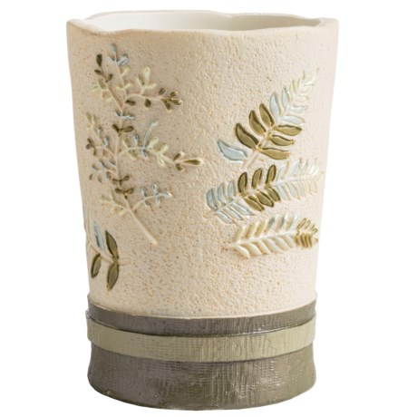 Avanti Linens Greenwood Collection Bathroom Tumbler/Cup in Ivory