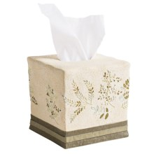 Avanti Linens Greenwood Collection Tissue Box Cover in Ivory - Closeouts