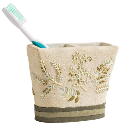 Avanti Linens Greenwood Collection Toothbrush Holder in Ivory