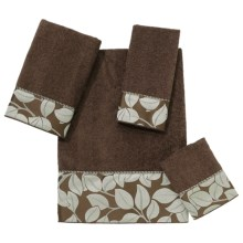 Avanti Linens Kendall Park Towel Set - 4-Piece in Mocha - Closeouts