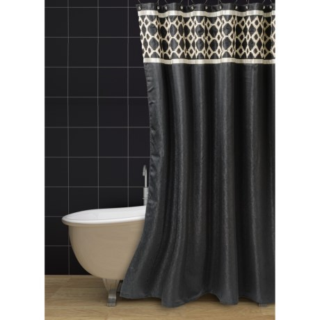 Avanti Linens Keswick Collection Shower Curtain in Black