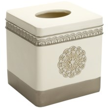 Avanti Linens Patria Tissue Cover - Bathroom Collection in Beige - Closeouts