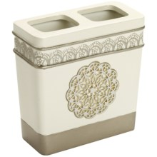 Avanti Linens Patria Toothbrush Holder - Bathroom Collection in Beige - Closeouts