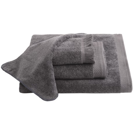 Avanti Linens Velour Hand Towel in Granite