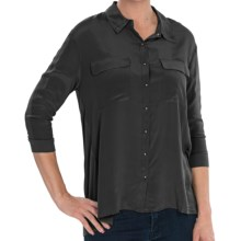 Avec Knit-and-Woven Shirt - 3/4 Sleeve (For Women) in Black - Closeouts