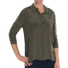 Avec Knit-and-Woven Shirt - 3/4 Sleeve (For Women) in French Moss - Closeouts