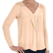 Avec Silk Cascade V-Neck Sweater (For Women) in Wheat - Closeouts