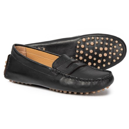 6680cbd4eba4 Avellini Made in Italy Penny Moccasin Driver Shoes - Leather (For Women) in  Black