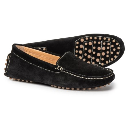 60a710db2a3 Avellini Made in Italy Round Toe Moccasin Driver Shoes - Suede (For Women)  in