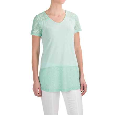 Aventura Clothing Allura Shirt - Organic Cotton-Modal, Short Sleeve (For Women) in Birds Egg Green - Closeouts