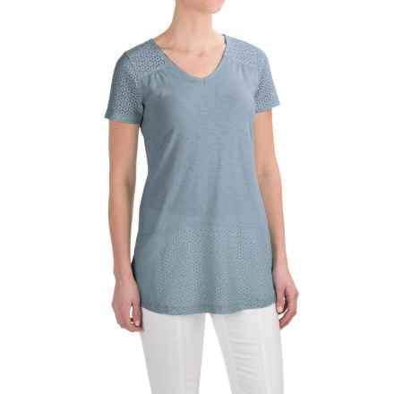 Aventura Clothing Allura Shirt - Organic Cotton-Modal, Short Sleeve (For Women) in Tradewinds - Closeouts