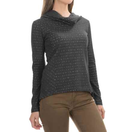 Aventura Clothing Amaris  Shirt - Cowl Neck, Long Sleeve (For Women) in Heathered Grey - Closeouts