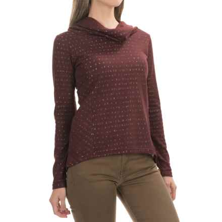 Aventura Clothing Amaris  Shirt - Cowl Neck, Long Sleeve (For Women) in Winetasting - Closeouts