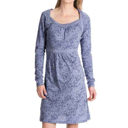 Aventura Clothing Amina Dress - Burnout Jersey, Long Sleeve (For Women) in Twilight Blue - Closeouts
