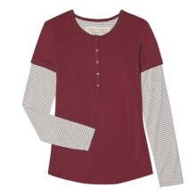 Aventura Clothing Aniston Henley Shirt - Long Sleeve (For Women) in Claret - Closeouts